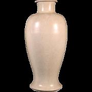 Large Antique 19th century Chinese Monochrome Crackle Glaze Baluster Shaped Vase