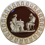 Antique Early 19th century English Coalport Porcelain Plate Decorated with a Classical Scene 1805 - 1810