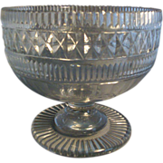 Large Georgian 19th c. Anglo Irish Crystal Compote Cut Glass George III 1810