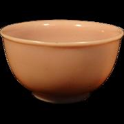 Antique 19th century Chinese Pink Peking Glass Bowl
