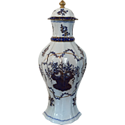 Antique 19th century French Samson Paris Porcelain Garniture Vase & Cover in the American Market Chinese Export Taste