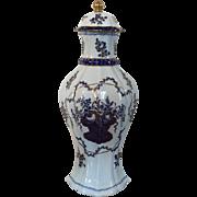Antique 19th century French Samson Paris Porcelain Garniture Vase & Cover in the American Market Chinese Export Taste