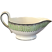 Antique 18th century English Wedgwood Sauce Gravy Boat in the Etruscan Pattern 1790