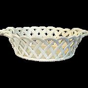 Antique 18th century English Wedgwood Creamware Chestnut Basket 1790