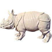 Antique 18th / 19th century Continental Porcelain Blanc de Chine Model of a Rhinoceros