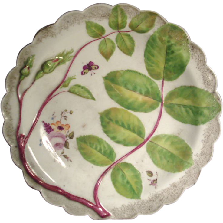 Early 19th c. Worcester Flight Barr & Barr Blind Earl Porcelain Plate 1815