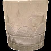 Antique 18th century Cut Flint Glass Whiskey Tumbler