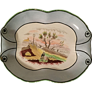 Antique Early 19th century English Regency Staffordshire Pearlware Dessert Dish Plate 1820