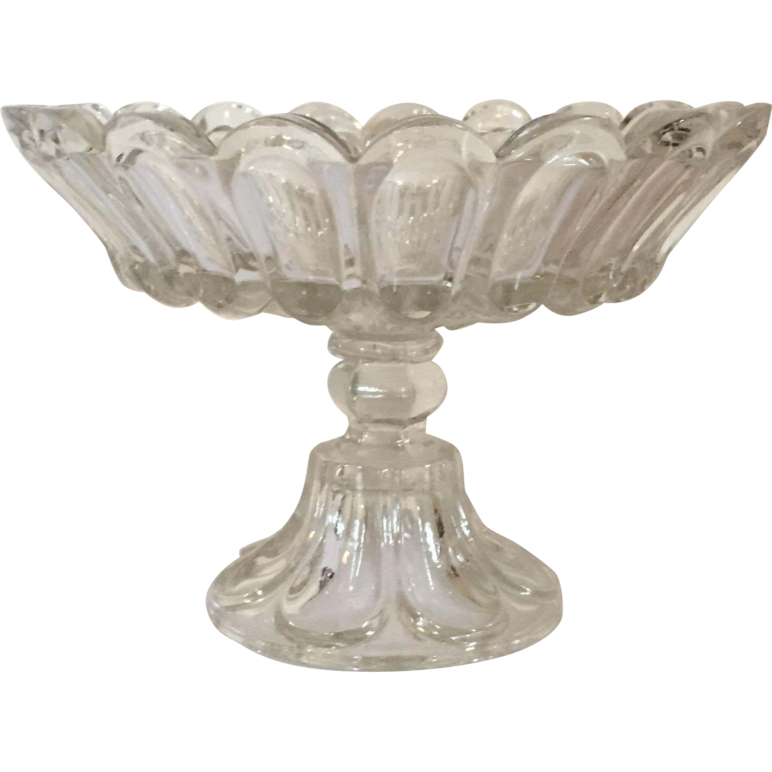 Top Clear Glass Footed Fruit Bowl - Glass Designs NX01