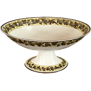 Antique Early 19th century Wedgwood Pearlware Creamware Centerpiece Footed Oval Compote Fruit Bowl