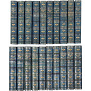 "Fine 19th century Leather Bindings ""The Works of George Eliot"" 20 Volumes Books"