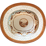 Antique Early 19th century Chinese Export Porcelain Reticulated Platter for the American Market 1800 - 1810