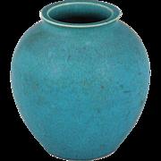 French Art Deco Turquoise Glaze Vase 1930
