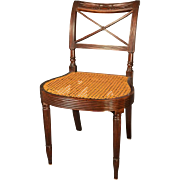 Antique Early 19th century American Federal Mahogany Chair Duncan Phyfe New York 1810
