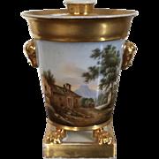 Fine Early 19th century Old Paris Porcelain Pot Pourri Urn & Cover 1800 - 1810 Bough Pot Flower Frog