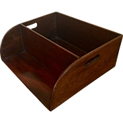 Antique Early 19th century English George III Mahogany Desk Book Caddy or Liquor Bottle Tray 1800