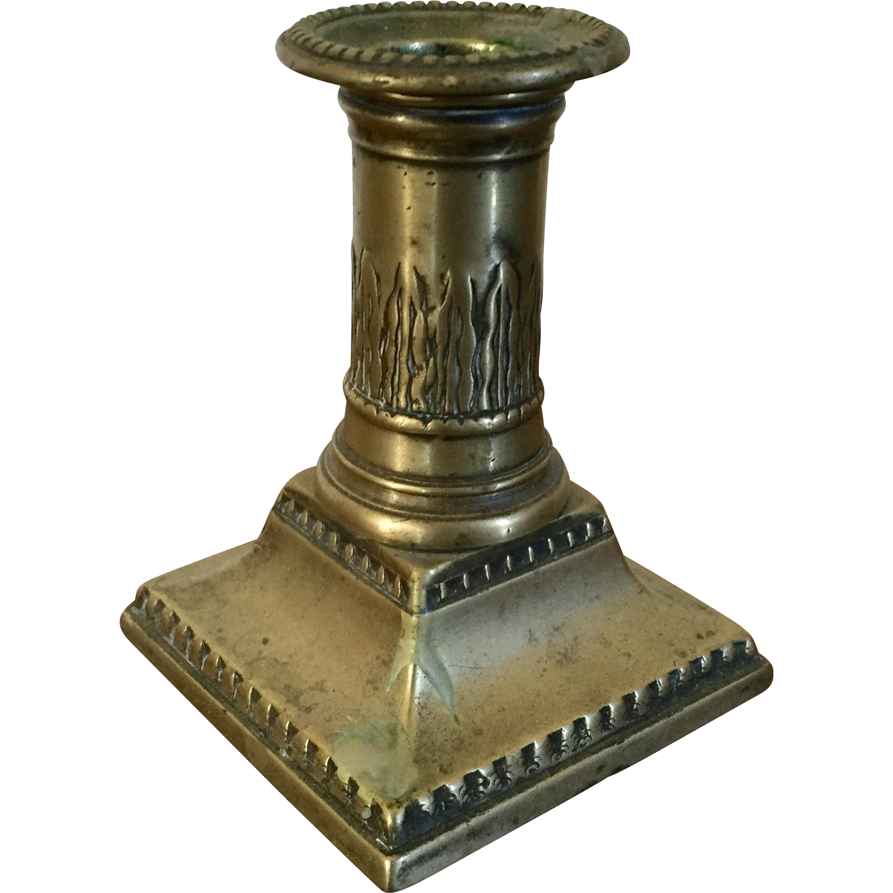 Antique 18th century american federal brass candlestick for American classic antiques