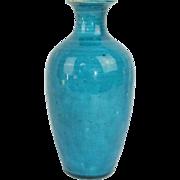 Antique Chinese Kangxi Period (1654 - 1722) Monochrome Porcelain Vase with Bright Turquoise Glaze