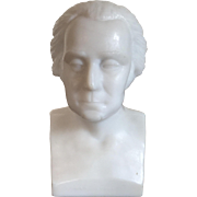 Antique 19th century American Gillinder Milk Glass Bust of President George Washington