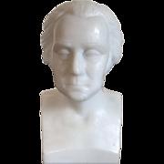 Antique 19th century American Gillinder Milk Glass Bust of President George Washington