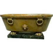 Antique 19th century Italian Grand Tour Siena Marble Model of a Roman Bath
