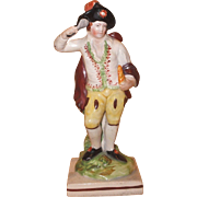 Antique Early 19th century English Staffordshire Pearlware Figure of Fire - One of the Four Elements 1800 - 1810