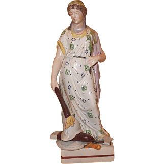 Antique 19th century English Staffordshire Pearlware Figure of Peace 1800 - 1810