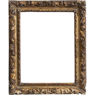 Small Antique 18th century French Regence Carved Giltwood Picture Frame for Old Master Painting or Drawing