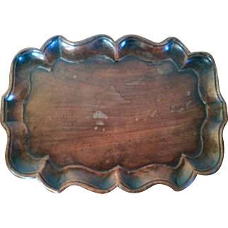 Antique 18th century George III Carved Mahogany Chippendale Waiter Tray or Coaster 1790