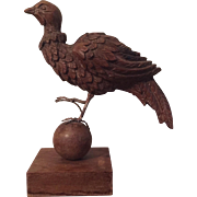 Antique 19th century American Carved Wood Model of a Pheasant