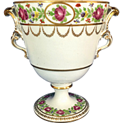 Antique 18th century Faubourg St. Denis Paris Porcelain Urn Vase Marked for Charles Philippe, Comte D'Artois c. 1780