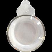 Steuben Glass Porringer Bowl with Etched Eagle Head Handle 1940