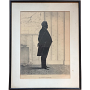 William Brown Kellogg Framed Silhouette Print of De Witt Clinton U.S. Senator & Governor of New York