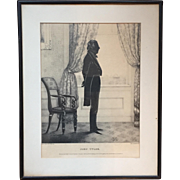 William Brown Kellogg Framed Silhouette Print of US President John Tyler