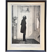 William Brown Kellogg Framed Silhouette Print of US President William Henry Harrison