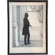 William Brown Kellogg Framed Silhouette Print of US Senator Henry Clay