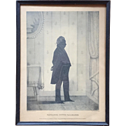 William Brown Kellogg Framed Silhouette Print of Nathaniel Potter Tallmadge