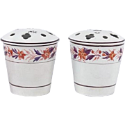 Pair Antique Early 19th century English Davenport Pearlware Bough Pots or Vases for Flowers 1810 - 1820