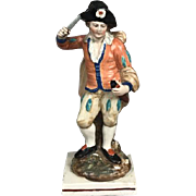 Antique Early 19th century English Staffordshire Pearlware Figure of an Actor