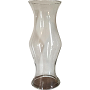 Large Antique 19th century Blown Glass Baluster Shape Hurricane Shade for a Candlestick with Rolled Rim