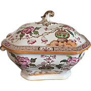 Antique 19th century Mason's Chinese Peony Ironstone Sauce Tureen Ashworth Bros.