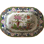 Antique Early 19th century Mason's Ironstone Vegetable Bowl Deep Serving Dish Chinese Table & Flower Pot Pattern 1820