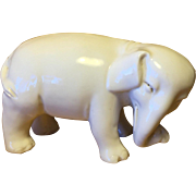 Antique 19th century Chinese Monochrome Blanc de Chine White Porcelain Figure of an Elephant