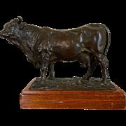 Large Antique 19th century Bronze Sculpture of a Cow