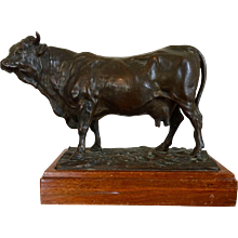Large Antique 19th century Bronze Sculpture of a Cow