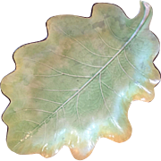 Large Antique 18th century English Davenport Creamware Pearlware Leaf Plate Dish