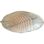 Antique Early 19th century English Wedgwood Pearlware Creamware Fern Leaf Shape Dish Plate