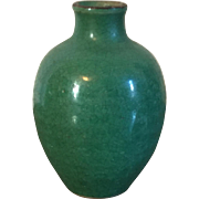 Small Antique 18th / 19th century Chinese Monochrome Glaze Green Porcelain Miniature Vase