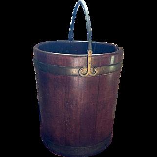 Antique 18th century English George III Period Mahogany Plate Bucket 1790