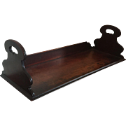 Antique Early 19th century English Georgian Mahogany Book Rack Caddy Stand for the Desk or Library